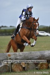 "Winner of the Open Grade 3, Jenni Hodgins-Smart riding ""Lambourne Park Couperin"" with a winning final score of 26"