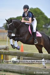 """Ava Fisher in the Open Grade 3 riding """"Teddy"""""""
