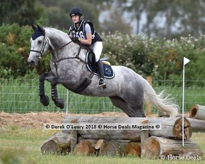 "Sophie Bennet in the Open Grade 3 riding ""Saxon"" placed 8th in the class with a final score of 39"