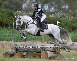 "Kylie Pedder in the Open Grade 3 riding ""Belcam Alladin"""