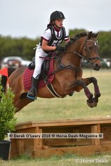 "Winner of the Pony Club Grade 4, Melissa Gulen riding ""Glenbbrai Pizzazz"" with a winning score of 28"