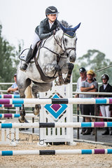 Maleah Lang_McMahon and 'Vakarra Champagne' win the Jumping Grand Final series