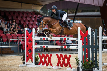 Jamie Priestley and 'Kolora Stud Optimus' place second, double clear in a time of 37.73 sec