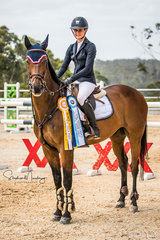 Jess Rice-Ward and 'CP Southern Cross' are runners-up in the Triple Crown series