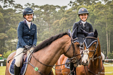 Brooke Langbecker and 'Quintago 1' together with Jamie Priestley and 'Kolora Stud Optimus'