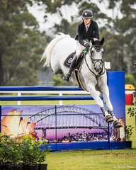 Katie Laurie and 'Casebrooke Lomond' during Round 1 of Grand Prix
