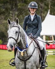 Katie Laurie and 'McCaw MVNZ' win the class in a time of 26.18 secs