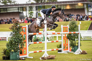 Tom McDermott and 'Yalambi's Fair Diamond VDL' win the class jumping double clear in a time of 34.850 secs