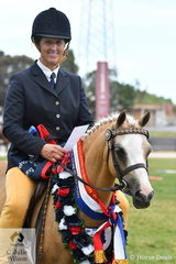 Vicki O'Connell rode Cherie Crawford's, 'Tooravale Madonna' to take out the 2019 VAS Rising Star Small Pony Championship.