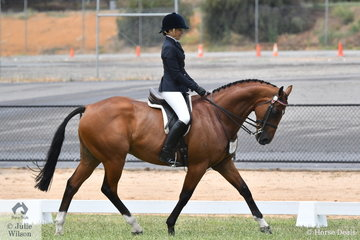 Samantha Strano took second place in the class for Amateur Owner Rider Hack Over 15hh with her, 'Faltastic'.