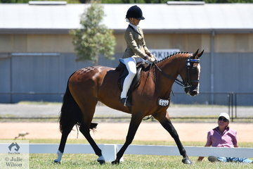 Emily Barton rode the Barton and McAliece nomination, 'Double Art' to make Top Ten in the strong Hero Final for qualified Standardbreds on day two of the 2019 VAS Saddle Horse Championships.