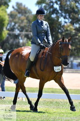 The weather was perfect and the work good on day two of the 2019 VAS Saddle Horse Championships. Kathryn Hayes made the most of it to make Top Ten in the Hero Final with her, 'Future Bliss'.