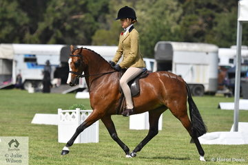 Tahlia Young rode Jeremy Robert's, 'Bamborough Oriana' to win the class for Newcomer Medium Show Hunter Pony and go on to claim the EA Newcomer Show Hunter Pony Championship.