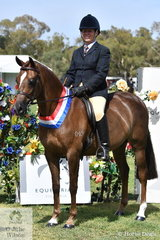 Raelene Brown claimed the EA Newcomer Show Hunter Galloway Championship with her, 'Wynara Dream Boy'.