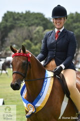 Nicole Riemer rode her, 'Whitmere Airs and Graces' to claim the Ridden Show Pony Championship at the Equinade Riding Pony of the year Show.