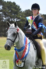 Maddison Cooke competing in the RDA ring probably had the most successful show of anyone at Werribee today. She rode her former eventer, 'Gladiator's Ghost' to be declare Champion Best Presented, Champion Horse and claimed the High Point award to top off a brilliant day.