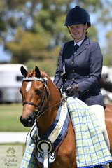 Jess Willis claimed the Ridden Australian Pony Championship with her, 'Earlsley Park Gold Class'.