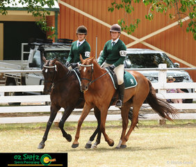 The Fangmeiere sisters from Armidale, Jade and Carlie took out the win the the Associate Pairs class on their horses, Will and Elvis..