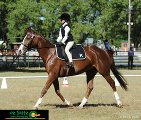 Making their way up the centre line in the Preliminary 1.2 Dressage was Lillian Meredith and Joelene at the 2019 Kingstown Jamboree.