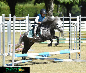 It was no surprise that horse and rider combination, Alexander Dell and Sasha were fast enough to get into the jump off with the wind in the mane during the Under 7 years, E Grade Show Jumping at the 2019 Kingstown Jamboree.