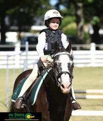 It was all smiles for E Grade show jumper, Amelia Chick-Sauer as she completes her round on her super cute pony, Toby on the first day of the 2019 Kingstown Jamboree held at the Gyra Showgrounds.