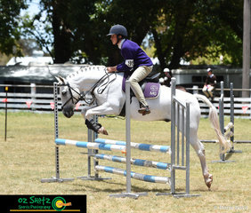 First to go in the C Grade Show Jumping and representing Martins Gully in the 13 and Under 15 Class was Dominic Magann and Jelly Bean.