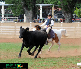 With a pony not much bigger than the beast he was chasing, Cameron Magann and Shamrock Lodge Mia had a great run out in the 11 years and under 13 Campdraft at the 2019 Kingstown Jamboree.