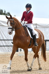 Ella Berry from St Ignatius College Geelong rode DJ Monte Fiore to sixth place in the Senior 1.1.