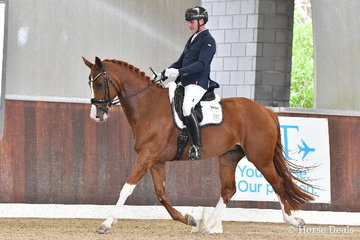 Well know equestrian personality, Jamie Paige rode 'Fairbanks Revenge' in the 5yo Young Horse Round One.
