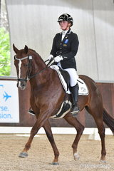 Tamara Campain riding 'Gowrie Park Cognac' took fifth place in the 6 yo Young Horse Round One