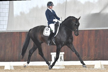 Maree Tomkinson who had numerous rides in a number of classes rode, 'Furst Deluxe' (pictured) to win the 6 yo Young Horse Round One and place second riding Total Diva in the same class.