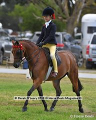 "Champion Child's Small Pony ""Harrington Park Symphony"" ridden by Annabelle Richardson, exhibited by Emma Richardson"