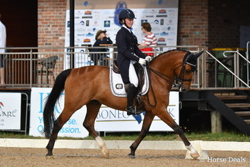 Amy Bachmann rode, 'Silverdene Pharoh' to take fifth place in the FEI CDI-Y Individual Test.