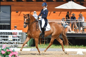 Successful Young Rider, Tayla Desmet rode, 'Bluefields Furstentanz' to take third place in the FEI CDN-Y Individual Test.
