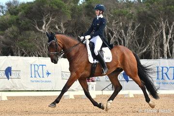 Hannah Shippen rode, 'Yaramee B Bear' to win the FEI CDN-J Individual Test with 66.66%.