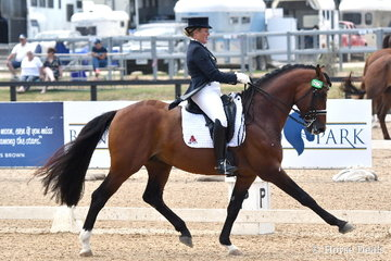 Sheridyn Ashwood from Queensland is pictured aboard her, 'Ashwoods Chocolate Box' during the FEI Intermediate 1 CDN.