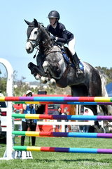 Fourteen year old Georgia Price jumped a super first round clear in the     Flexible Fit Future Stars class riding her, 'Batman Xtream'. Only eleven horses of the 40 to start jumped a first round clear over David Shepherd's tough track.