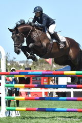 Amber Fuller jumped a spectacular first round clear in the Flexible Fit Future Stars riding the scopey, 'Armani Z'.