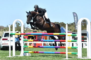 Of the eleven to jump clear in the first round of the Flexible Fit Future Stars class, Brook Dobbin had four of them. the best was, 'Gina MVNZ' that took second place.