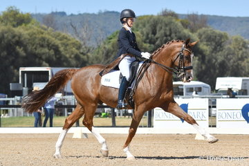 Lesley Anne Taylor took second place in the FEI Grand Prix CDI*** with her talented, 'Amicelli Gold'.
