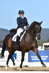 Sue Hearn rode her, 'Remmington' to take second place in the IRT Grand Prix CDI WLF. (World Cup League Final)