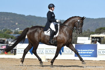Rozzie Ryan rode Jonah and Edna Bevan's, 'Jarrah R' by Jive Magic imp to win the IRT Grand Prix CDI-WLF.