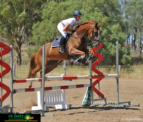 In her first competition back after 10 months in Europe, Ashleigh Dunn and her 9 year old throughbred mare competed in the 1m Super Two Phase at the Toowoomba Australia Day Show Jumping Championships.