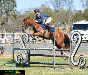 Matthew Kidston was allowed to ride HC in the 1.04m Ladies class on Saturday on Calveston Prince Elliot a 6 year old Gelding owned by Tracie Borg.