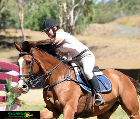The Clandy Man Can got big pats from Tamsyn Breeze after they finished a great round at the Australia Day Championships held in Toowoomba.