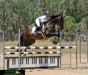 Winning the 1.10m Oz Shotz Junior Championship was Piper Searle and she rode Miss Florentine.