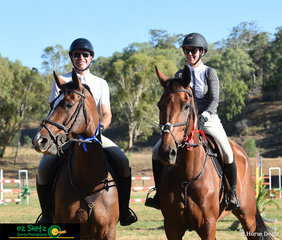 Sam Overton riding Diamond B Corvina took the win with Carly Overton and Pabello taking second place in the Open 1.30m Super Two Phase at the Toowoomba Australia Day Show Jumping.