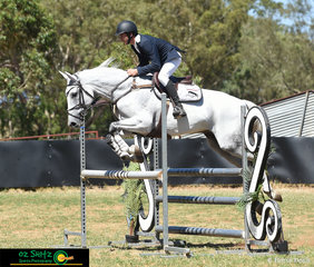 Michael Short competes Finch Farm Delto in the the 1.05m Championship class on the final day of the Australia Day Show Jumping Weekend held in Toowoomba.