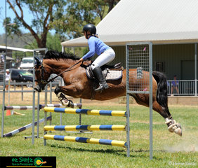 Making 90cm look easy, Keeleigh Wise and her pony Alcheringa Colwyn Bay ride in the Take Your Own Line.