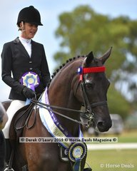 """Reserve Champion Open Large Saddle Hack, """"SLM Empire"""" ridden by Courtney Christie exhibited by Francesca Christie"""